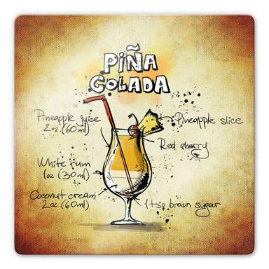 Glasbild Pina Colada - Rezept
