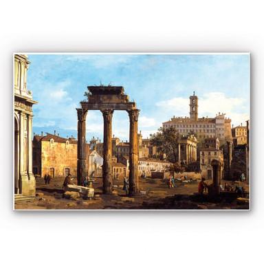 Hartschaumbild Canaletto - Forum mit Tempel von Kastor und Pollux