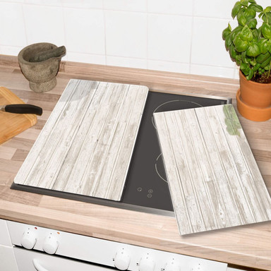 Herdabdeckplatte - Shabby Chic Holz