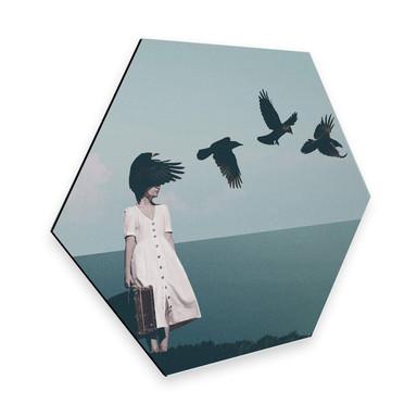 Hexagon - Alu-Dibond Léon - I am starting to forget your face