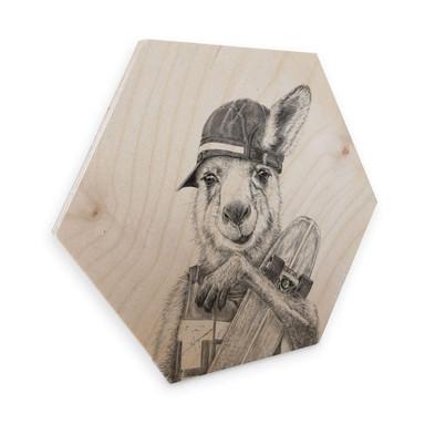 Hexagon - Holz Birke-Furnier Kools - Skateroo