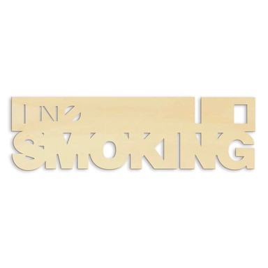 Holz-Anhänger No smoking