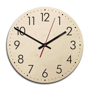 Holz-Wanduhr - Modern mit Minutenanzeige