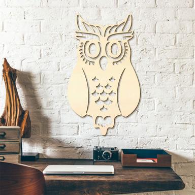 Holzkunst Pappel - Eule