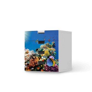 Klebefolie IKEA Stuva / Malad Kommode - 4 Schubladen - Coral Reef- Bild 1