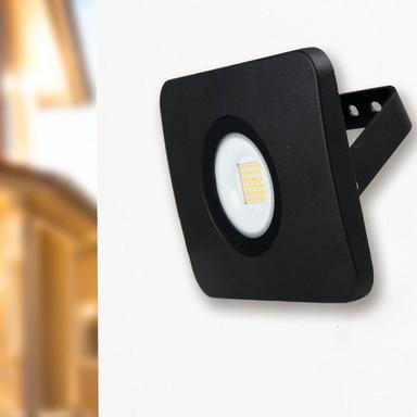 LED Flutlichtstrahler Bolton 3000K IP65 in Schwarz 30W
