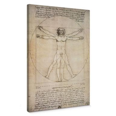 Leinwandbild da Vinci - Proportionszeichnung