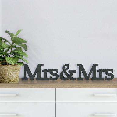 MDF-Holzbuchstaben Mrs&Mrs Serife
