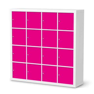 Möbelfolie IKEA Kallax Regal 16 Türen - Pink Dark