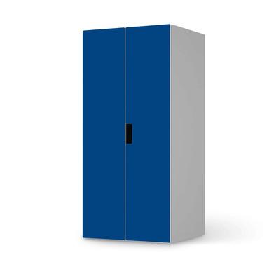 Möbelfolie IKEA Stuva / Malad Schrank - 2 grosse Türen - Blau Dark