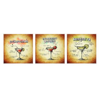 Poster Cocktails Set 01 (3-teilig)