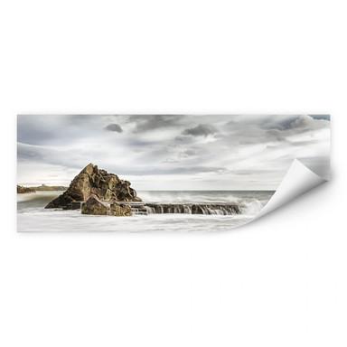 Wallprint Fels in der Brandung - Panorama