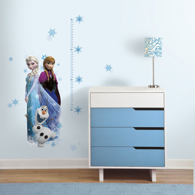 Wandsticker Die Eiskönigin - Messlatte Elsa, Anna und Olaf - Bild 1