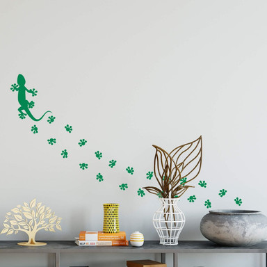 Wandtattoo Geckospuren