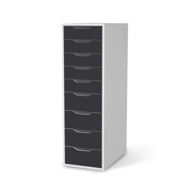 Folie IKEA Alex 9 Schubladen - Grau Dark