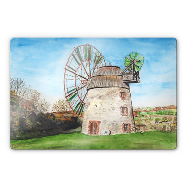 Glasbild Toetzke - Holländerwindmühle