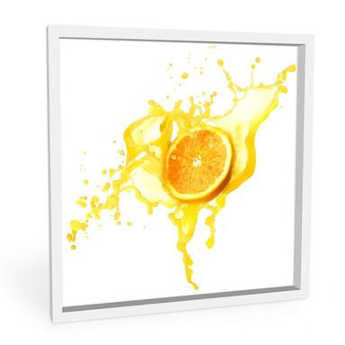 Hartschaumbild Splashing Oranges - quadratisch