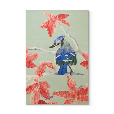 Holzposter Goed Blauw - Der Eisvogel