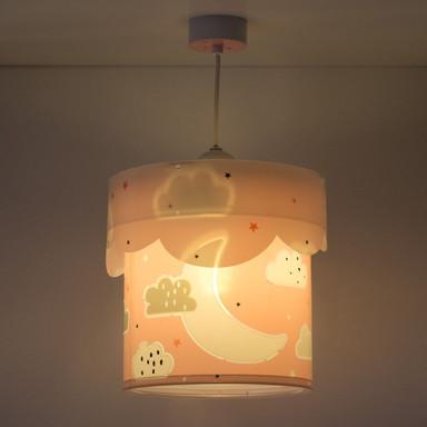 Kinderzimmer Pendelleuchte Moon in Pink E27