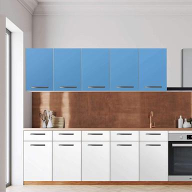 Klebefolie - Wandschrank 200cm Breite - Blau Light