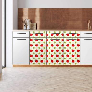Küchenfolie - Unterschrank 120cm Breite - An apple a day