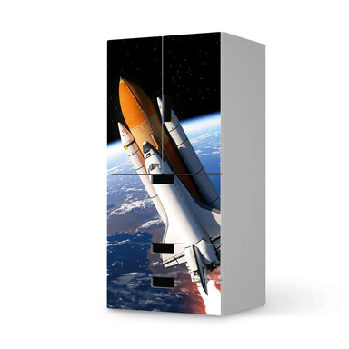 Möbelfolie IKEA Stuva / Malad - 3 Schubladen und 2 kleine Türen - Space Traveller