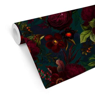Mustertapete UN Designs - Dunkle Blüten