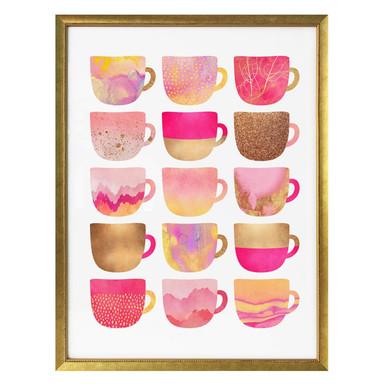 Poster Fredriksson - Kaffeetassen: Pretty Pink