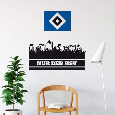 Wandtattoo Nur der HSV mit Fans und Logo