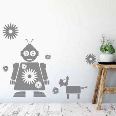 Wandtattoo Roboter Fleur