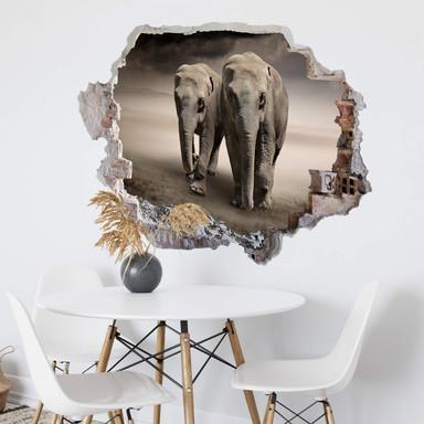 3D Wandtattoo Die Elefanten