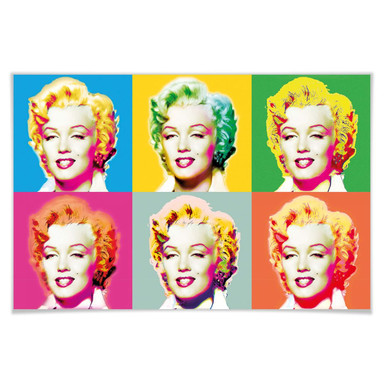 Giant Art® XXL-Poster Visions of Marilyn - 175x115cm