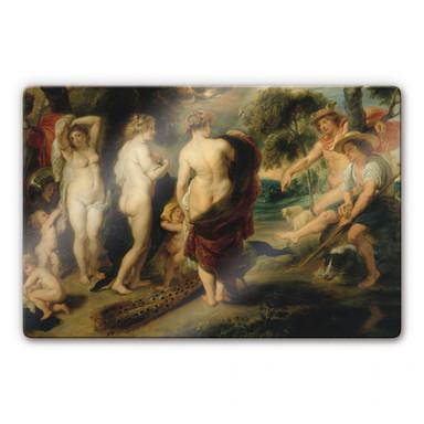 Glasbild Rubens - Das Urteil des Paris
