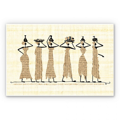 Hartschaumbild Ägyptische Frauen