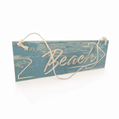 Holzschild Way to the Beach - Pfeil