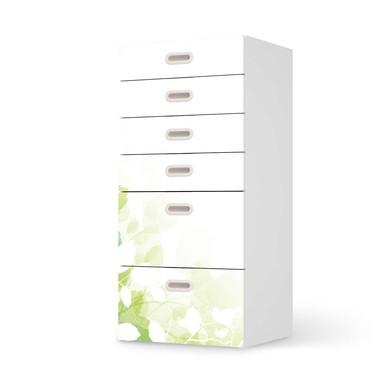 Klebefolie IKEA Stuva / Fritids Kommode - 6 Schubladen - Flower Light- Bild 1