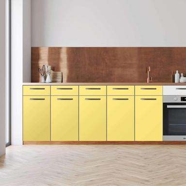 Küchenfolie - Unterschrank 200cm Breite - Gelb Light