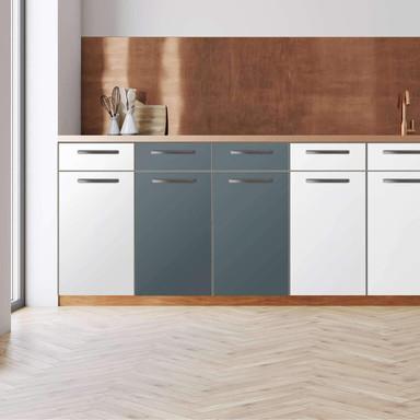 Küchenfolie - Unterschrank 80cm Breite - Blaugrau Light