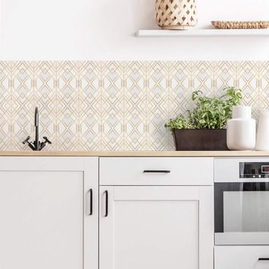 Küchenrückwand Fredriksson - Goldene Geometrie