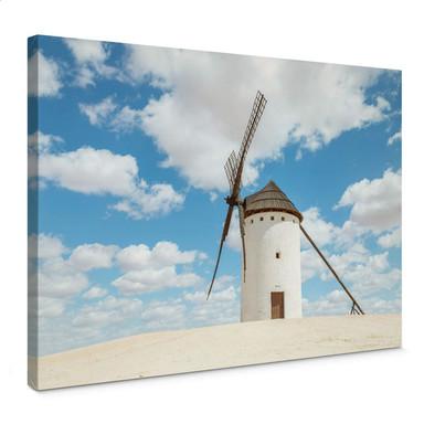Leinwandbild Colombo - Windmühlen auf der Don Quijote Route in Spanien