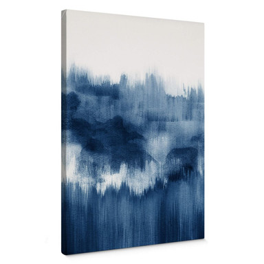 Leinwandbild Nouveauprints - Watercolour Brush Strokes (blau)