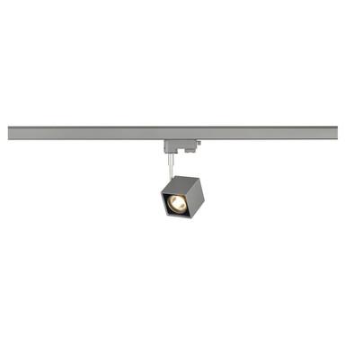 Leuchtenspot Altra Dice für 3-Phasen-Stromschiene in silbergrau / schwarz, inkl. Adapter