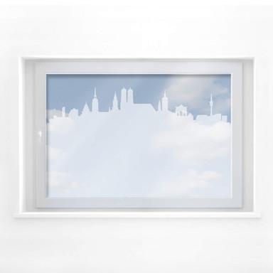 Milchglasfolie München Skyline