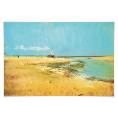 Poster Degas - Strand bei Ebbe