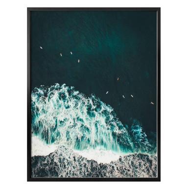 Poster Der Blick von oben: Perfekte Welle