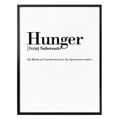 Poster Grammatik - Hunger