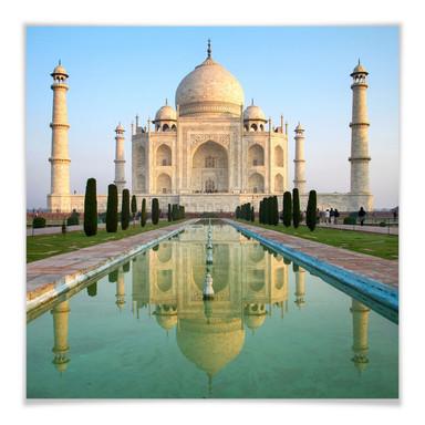 Poster Taj Mahal - quadratisch
