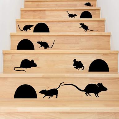 Stufen-Wandtattoo Mäuschen