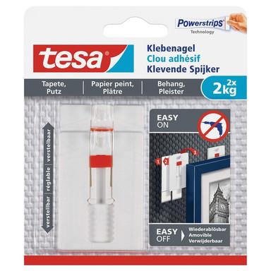tesa® Klebenagel verstellbar Tapete & Putz 2x2kg - Bild 1
