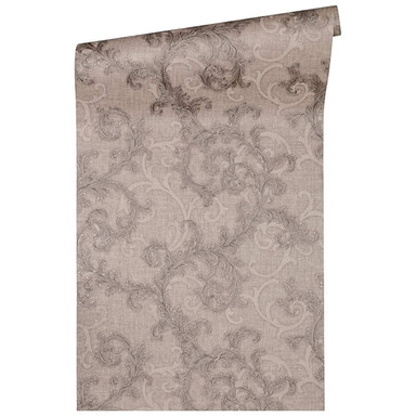 Versace Home Mustertapete Tapete Baroque & Roll Braun, Grau, Metallic